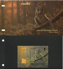 ILE DE MAN ISLE OF MAN OISEAUX HIBOUX CHOUETTES OWLS BIRDS EULEN VÖGEL ** 1997