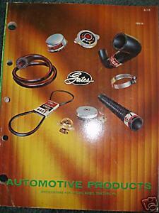 1969-70 Gates Automotive Products Catalog Truck Bus +