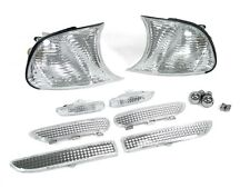 DEPO 99-01 BMW E46 2D CLEAR CORNER +SIDE MARKER + 4 PC BUMPER LIGHT +CHROME BULB