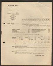 """CHARLEVILLE (08) FONDERIES & CONSTRUCTIONS / POELE """"DEVILLE & Cie"""" , 1926"""