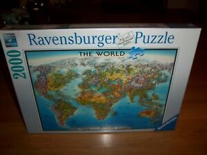 Ravensburger Jigsaw Puzzle The World Map 2000 Pieces Made In Germany 166831 New