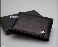 BMW Credit Card Holder Wallet in Black Leather !