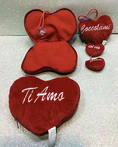 SAN VALENTINO AMORE LOVE CUORE IN PELUCHE RIPIENO DI CUORICINI PLUSH HEARTS