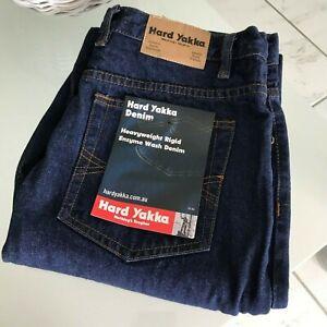 Hard Yakka Denim -  Heavyweight Rigid Enzyme Wash Denim - NWT Size 87R