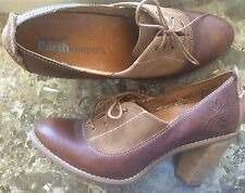 TIMBERLAND EARTHKEEPERS Mary Jane Oxford Lace-Up Heels Booties Leather Size 9
