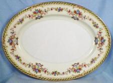 Noritake Capri Platter Oval Serving Porcelain Urns Flowers Scrolls 7505 Vintage