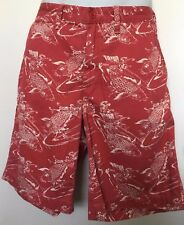 Polo Ralph Lauren Mens Shorts~Koi Fish Print~Red~Relaxed Fit Chinos~Sz 34 NWT