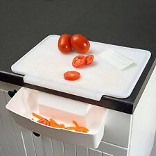 Cutting Board Counter Catcher Home Kitchen Tools - Kitchen Set (White)