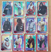 Topps Force Attax Journey to Star Wars The Last Jedi Rainbow Foil Gold Cards