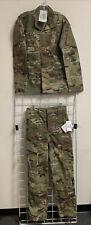 New US ARMY Multicam OCP FR  Army Uniform Set Jacket/Trousers Small Long NWT