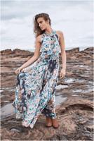 Ladies JAASE INDIGO BATIK Endless Summer Maxi Dress Boho BRAND NEW Size XS or S