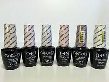 OPI Gel Color Kit Nail Lacquer UV PASTEL SOFT SHADES . Set of 6 Colors 0.5 oz