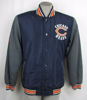 Chicago Bears NFL Men's  Snap-Up Mid Weight Satin Body Logo Jacket