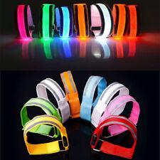 2pcs Reflective Safety Belt Arm Strap Cycling Running LED Armband Light