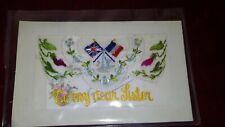 First World War WW1 Embroided Silk Postcard