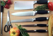 Stainless Steel Knife Swivel Set Block Seven Items Black Handle