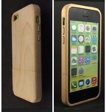 iWooden iPhone 5C Real Maple Wood Case Thinnest Wood Cover ✅ With Wood Buttons ✅