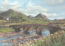 Marsco from Sligachan Isle of Skye Scotland Bridge - United Kingdom Art Postcard