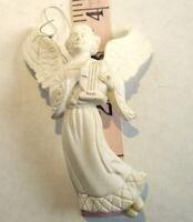 Winged Angel Christmas Ornament plastic  vintage 1980's