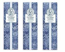 Gl Greenleaf Scented Slim Sachet Set of 3 - Classic Linen