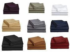 Luxury Queen Size 4 pc Bedding Sheet Set 1200 Thread Count Soft Egyptian Cotton