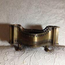 VTG Footed Antiqued Brass Gallery Trim Centerpiece