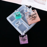Silicone Perfume Bottle Patch Mold DIY Making Crystal Epoxy Resin Crystal Mould