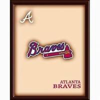 MLB Wooden Wall Art Picture Atlanta Braves + FREE SHIPPING!