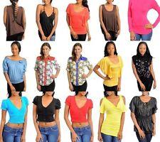 NEW Wholesale Lot 25 Tops Shirts Pants Leggings Mixed Women Apparel M Medium
