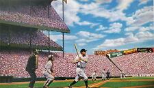 Babe Ruth 60th Homerun New York Yankees Art Print Litho Bill Goff signed artist