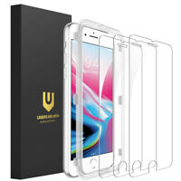 3Pcs UNBREAKcable iPhone 8 7 6s 6 Screen Protector Tempered Glass Protect Camera