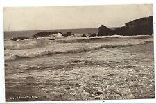 CORNWALL - ROUGH SEA, BUDE  1927 Salmon Series Postcard