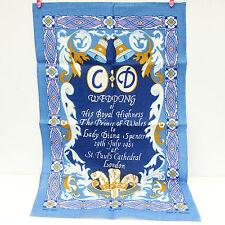 New Vintage Ulster Linen Royal Wedding Prince Charles Diana 1981 Tea Towel