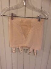 Vintage  tan 230 Grenier open bottom girdle w/ garters sz med