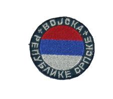 "Embroidered sleeve patch Vojska Republike Srpske"" (Army of the Serbian Republic)"