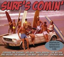 SURF'S COMIN' 3 CD NEUF THE VENTURES/THE FIREBALLS/BOOTS BROWN/THE CHAMPS