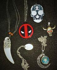6 piece Necklace Jewelry Lot Dead Pool Skull Houston Astro's & more W1
