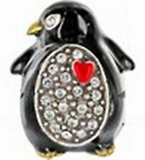 ~Brighton Charm PENGUIN Spacer Bead Xmas Swarovski Crystal New w/o tag!~