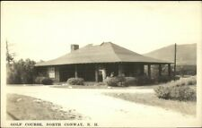 North Conway NH Golf Course Bldg Real Photo Postcard