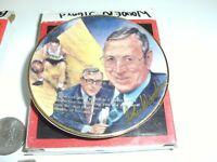 JOHN WOODEN SIGNED AUTOGRAPH Gartlan Miniature 3 Inch Plate UCLA THEYCALL HIM