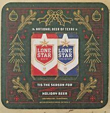 Lone Star Beer Coaster ~Texas ~ Holiday Edition Coaster