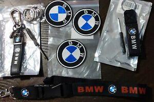 BMW keychain, lanyard, patches set
