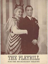 1941 Playbill HIGH KICKERS George Jessel Sophie Tucker