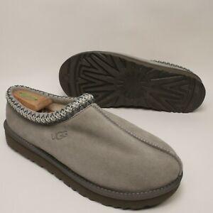 UGG Slippers 10.5 Mens (12 womens) 5955 Tasman Braid Grey Suede 100% Authentic