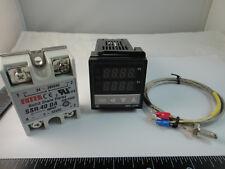100-240V Digital PID Temperature Controller + max.40A SSR + K Thermocouple Probe