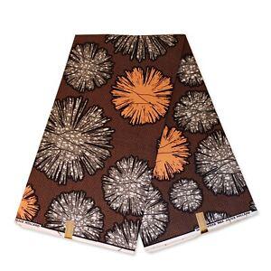 "African fabric SALMON wax fabric ""DOTTED SPLASH"" Ankara Kitenge wax print cloth"