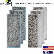 3x Wet & 3x Dry Washable Mopping Pads Replacement Fit For Irobot Braava Jet M6