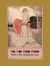 1920's One Hour Dress Book - Sewing w/o Pattern - Woman's Institute - (1924) CD