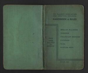 Billiards, Snooker, Pool Handbook 1950.
