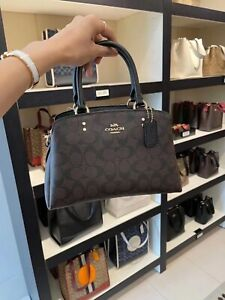 NWTCoach Mini Lillie Carryall In Colorblock/ Blocked Signature Canvas